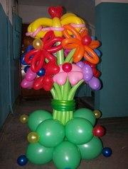 Гелевые шары,  оформление и фигуры из шаров