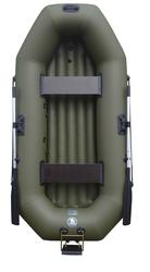 Лодка надувная двухместная  ПВХ Альфа 25 надувное дно навесной транец