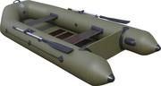 Лодка надувная двухместная  ПВХ Альфа 28 реечная слань  вклееный транец