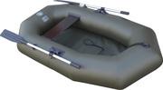 Лодка надувная полутороместная  ПВХ Альфа 21 весла рееная слань