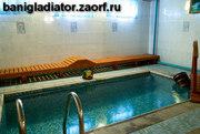 Русская баня с веником, бассейн, сауна, часовые номера.